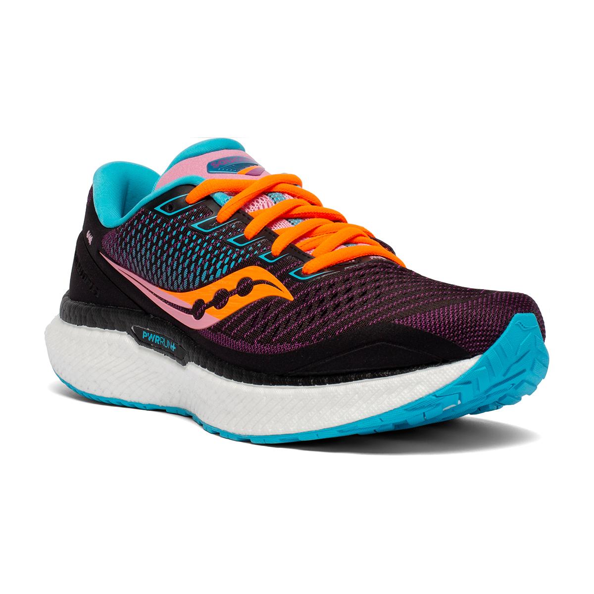Women's Saucony Triumph 18 Running Shoe - Color: Future/Black - Size: 5 - Width: Regular, Future/Black, large, image 2