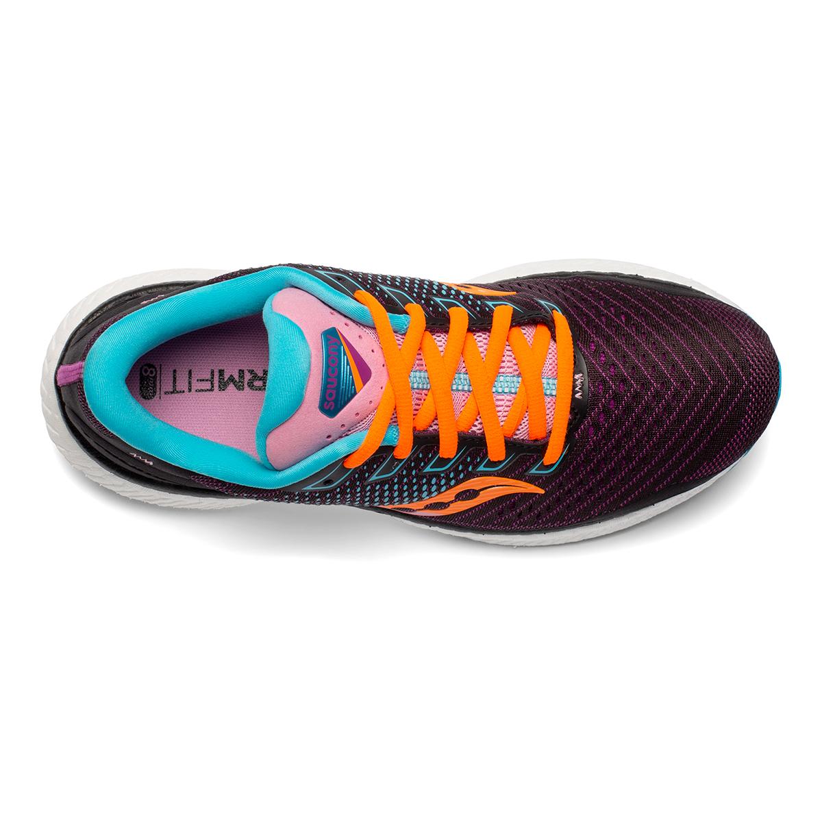 Women's Saucony Triumph 18 Running Shoe - Color: Future/Black - Size: 5 - Width: Regular, Future/Black, large, image 3