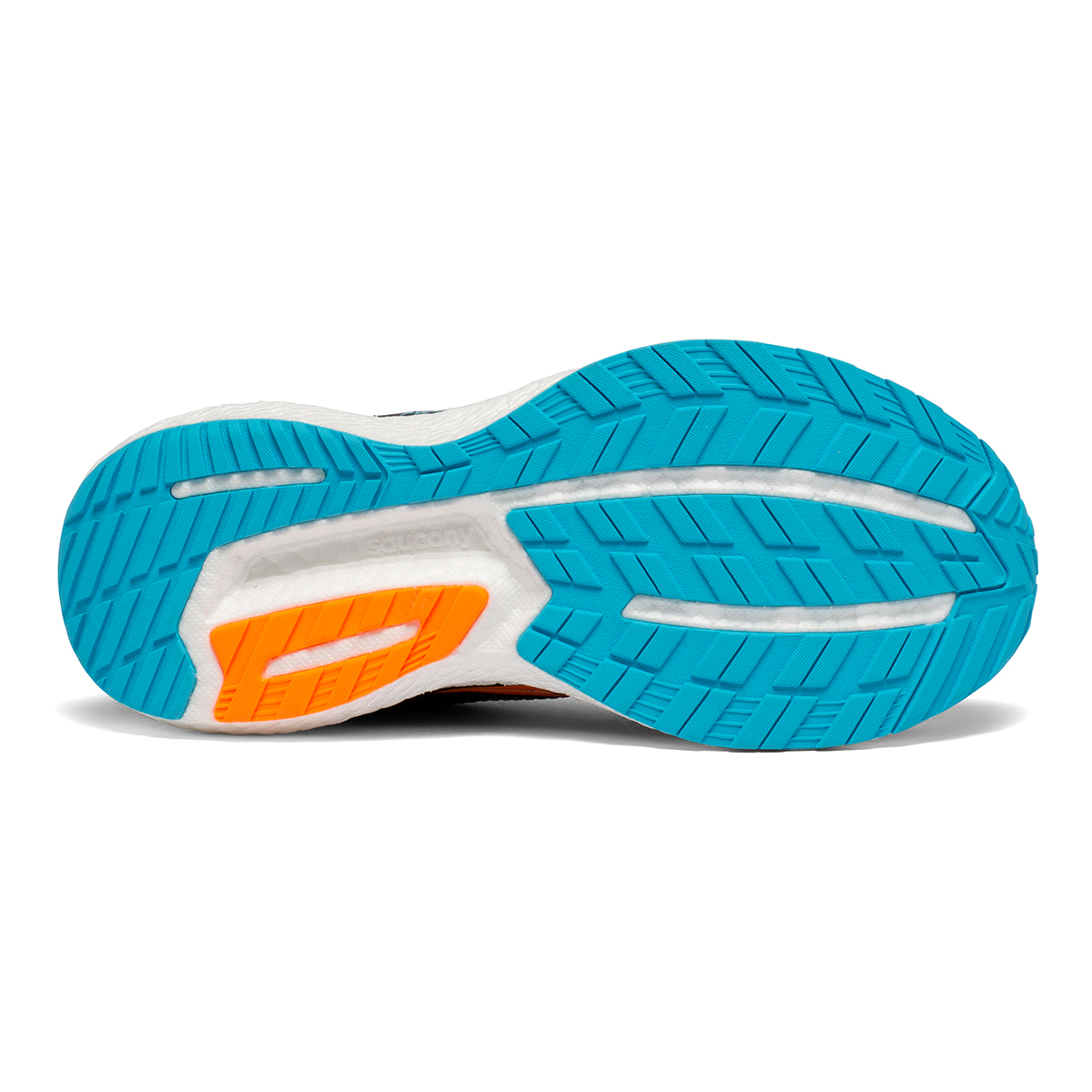 Women's Saucony Triumph 18 Running Shoe - Color: Future/Black - Size: 5 - Width: Regular, Future/Black, large, image 4