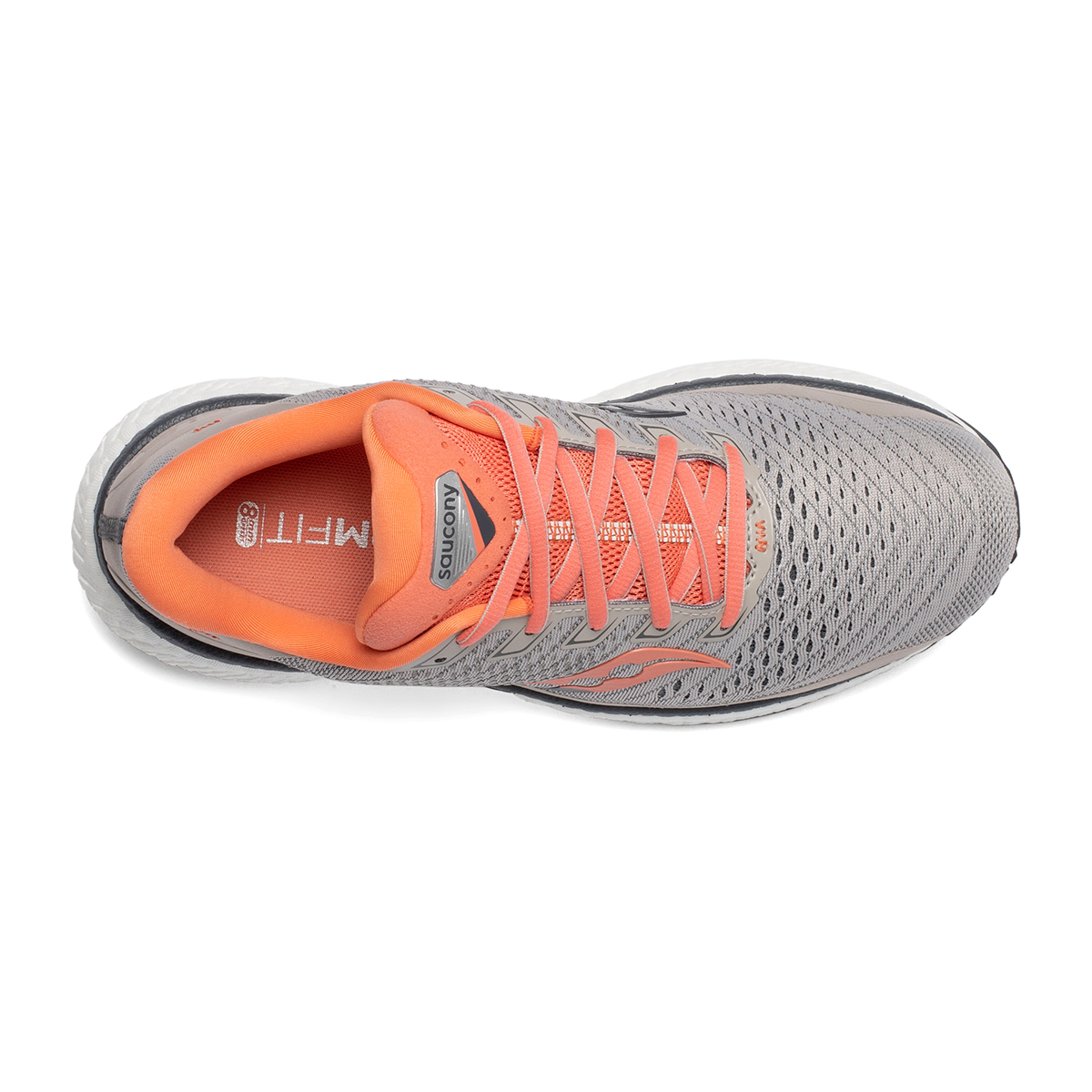 Women's Saucony Triumph 18 Running Shoe - Color: Moonrock/Coral - Size: 5 - Width: Regular, Moonrock/Coral, large, image 4