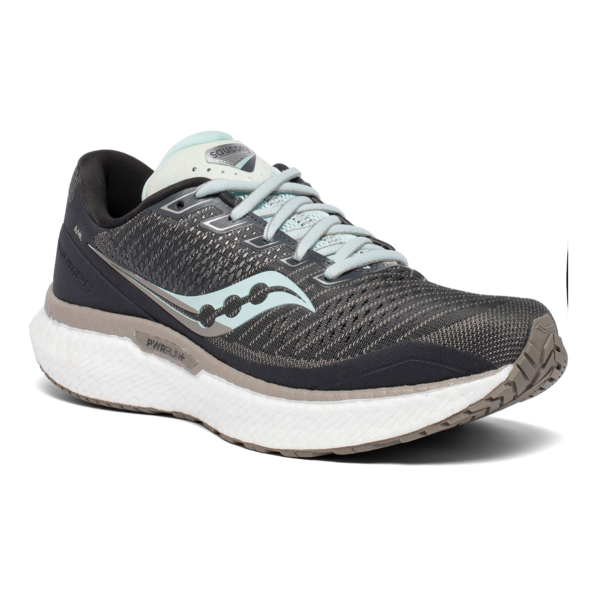 Women's Saucony Triumph 18 Running Shoe - Color: Black/Charcoal - Size: 5 - Width: Regular, Black/Charcoal, large, image 4