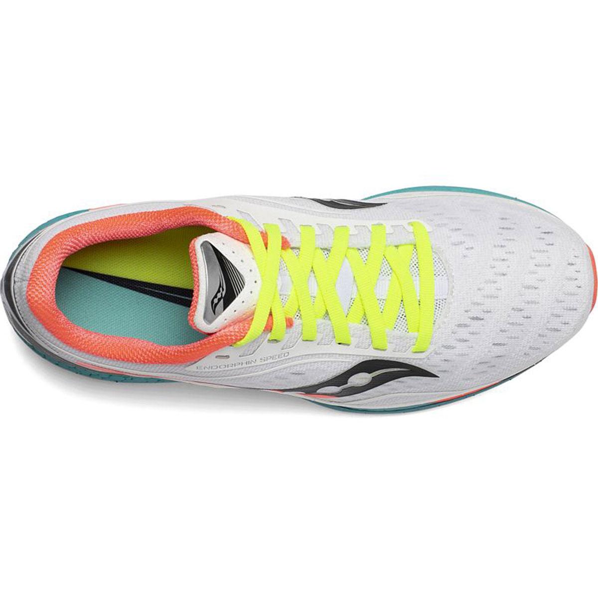 Women's Saucony Endorphin Speed Running Shoe - Color: Moonrock/Mutant - Size: 5 - Width: Regular, Moonrock/Mutant, large, image 3