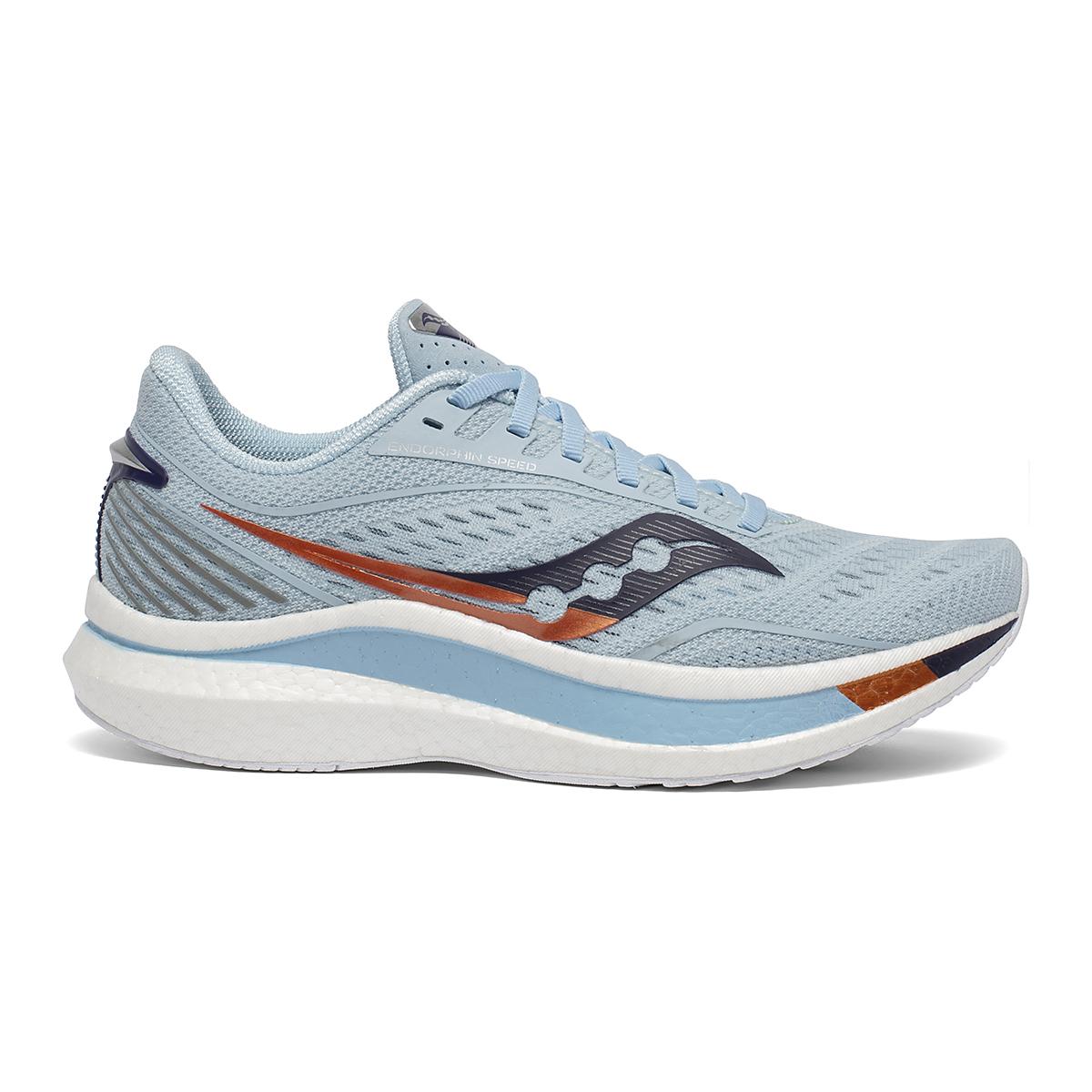 Women's Saucony Endorphin Speed Running Shoe - Color: Sky/Midnight - Size: 8.5 - Width: Regular, Sky/Midnight, large, image 1
