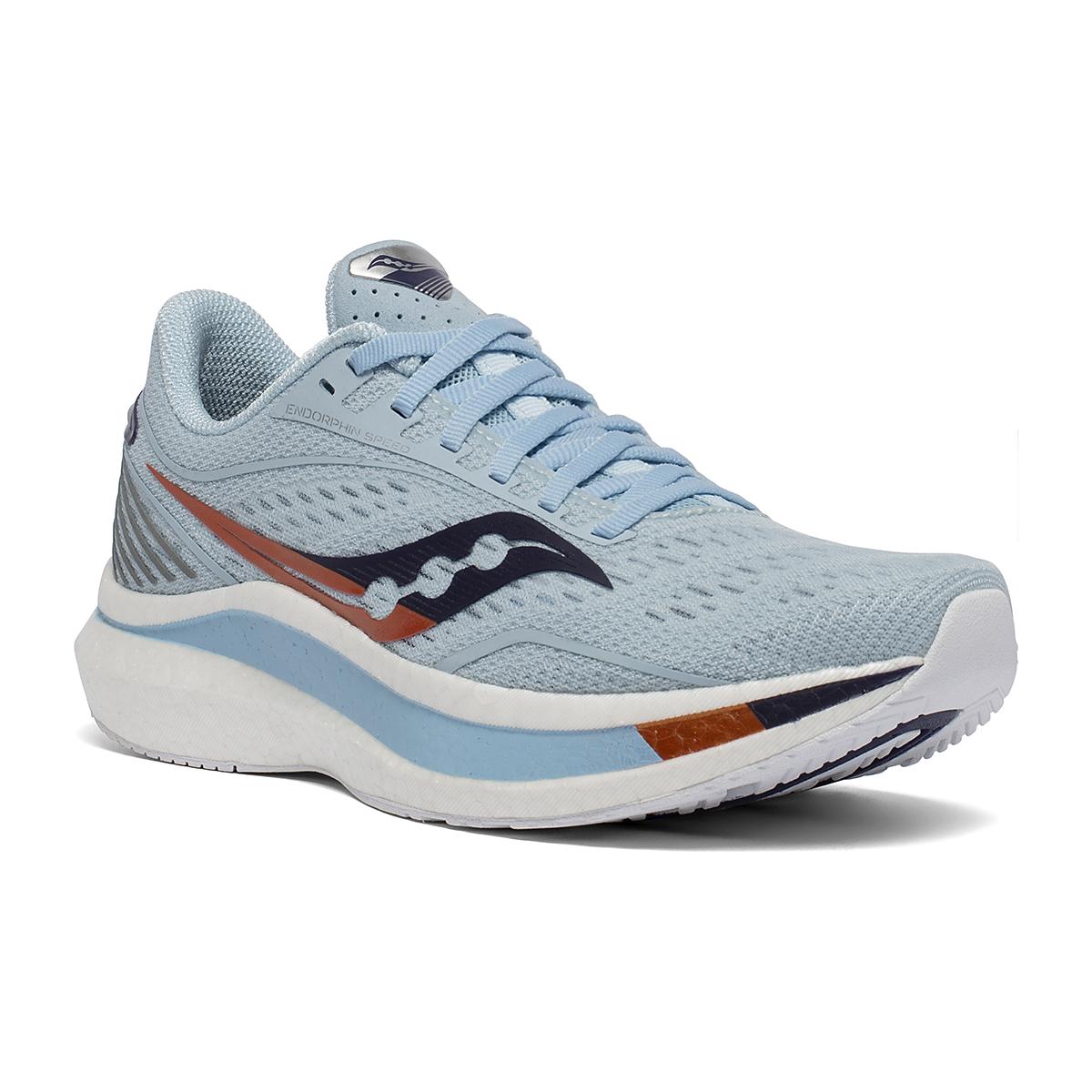 Women's Saucony Endorphin Speed Running Shoe - Color: Sky/Midnight - Size: 8.5 - Width: Regular, Sky/Midnight, large, image 5