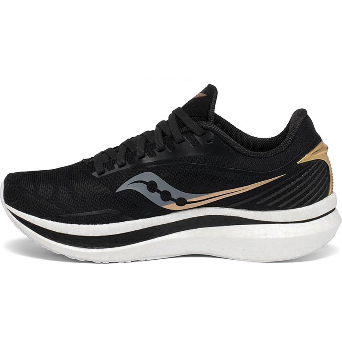 Women's Saucony Endorphin Speed Running Shoe - Color: Black/Gold - Size: 5 - Width: Regular, Black/Gold, large, image 2