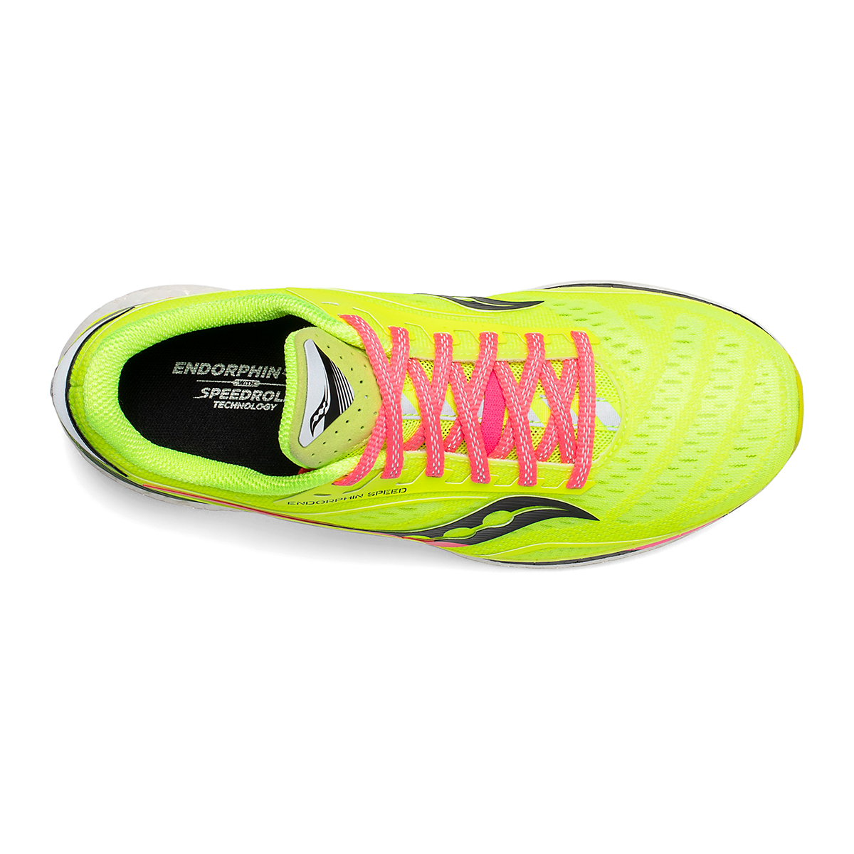 Women's Saucony VIZIPRO Speed Endorphin Speed Running Shoe - Color: Citron - Size: 5 - Width: Regular, Citron, large, image 3