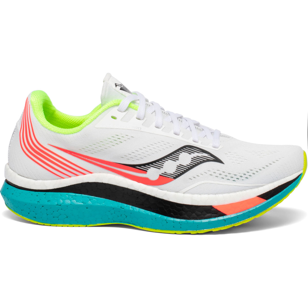 Women's Saucony Endorphin Pro Running Shoe - Color: White Mutant (Regular Width) - Size: 5, White Mutant, large, image 1
