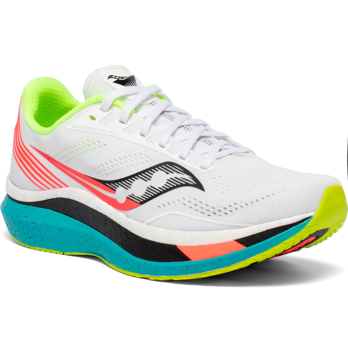 Women's Saucony Endorphin Pro Running Shoe - Color: White Mutant (Regular Width) - Size: 5, White Mutant, large, image 2