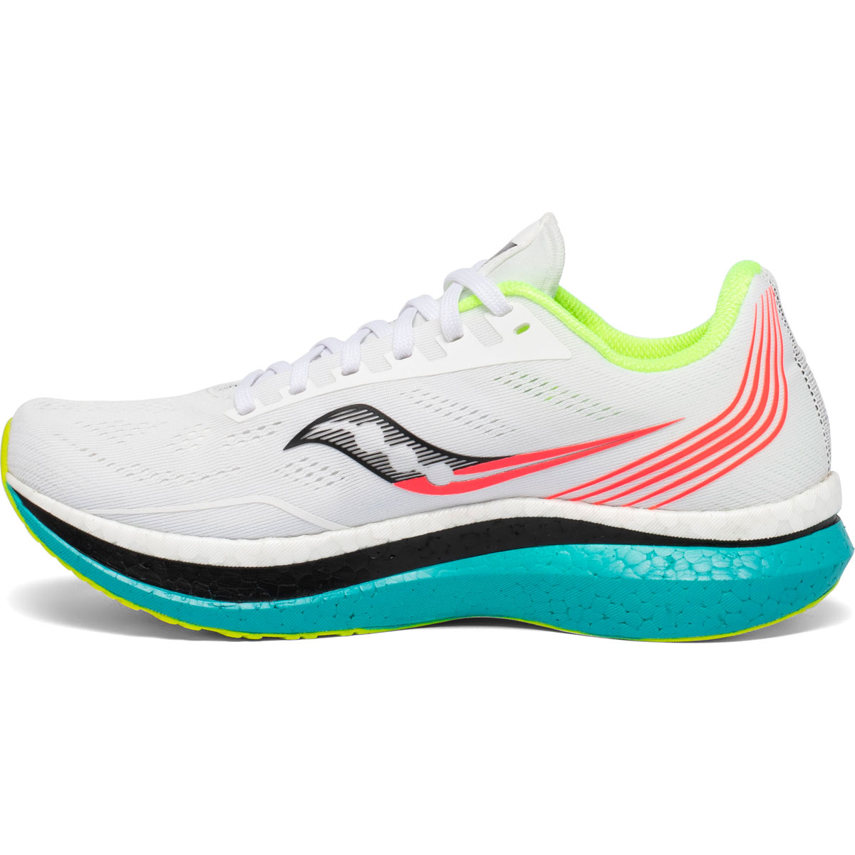 Women's Saucony Endorphin Pro Running Shoe - Color: White Mutant (Regular Width) - Size: 5, White Mutant, large, image 3