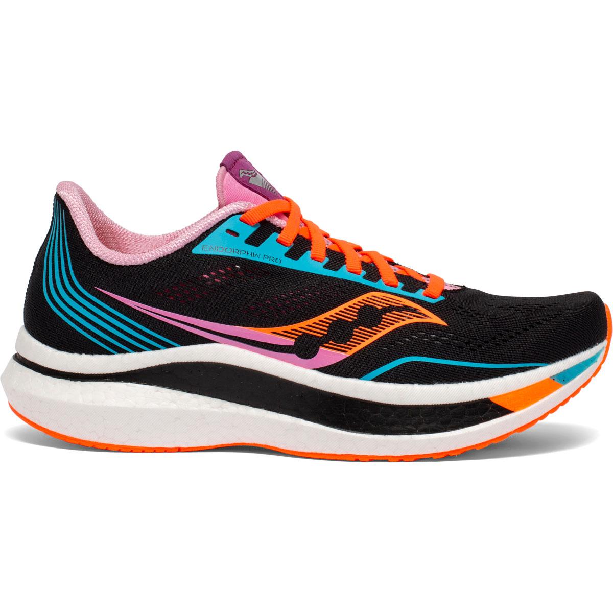 Women's Saucony Endorphin Pro Running Shoe - Color: Future/Black - Size: 5 - Width: Regular, Future/Black, large, image 1