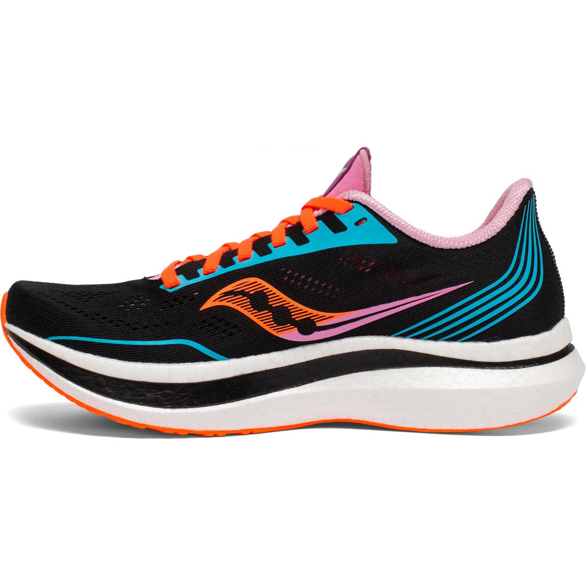 Women's Saucony Endorphin Pro Running Shoe - Color: Future/Black - Size: 5 - Width: Regular, Future/Black, large, image 2