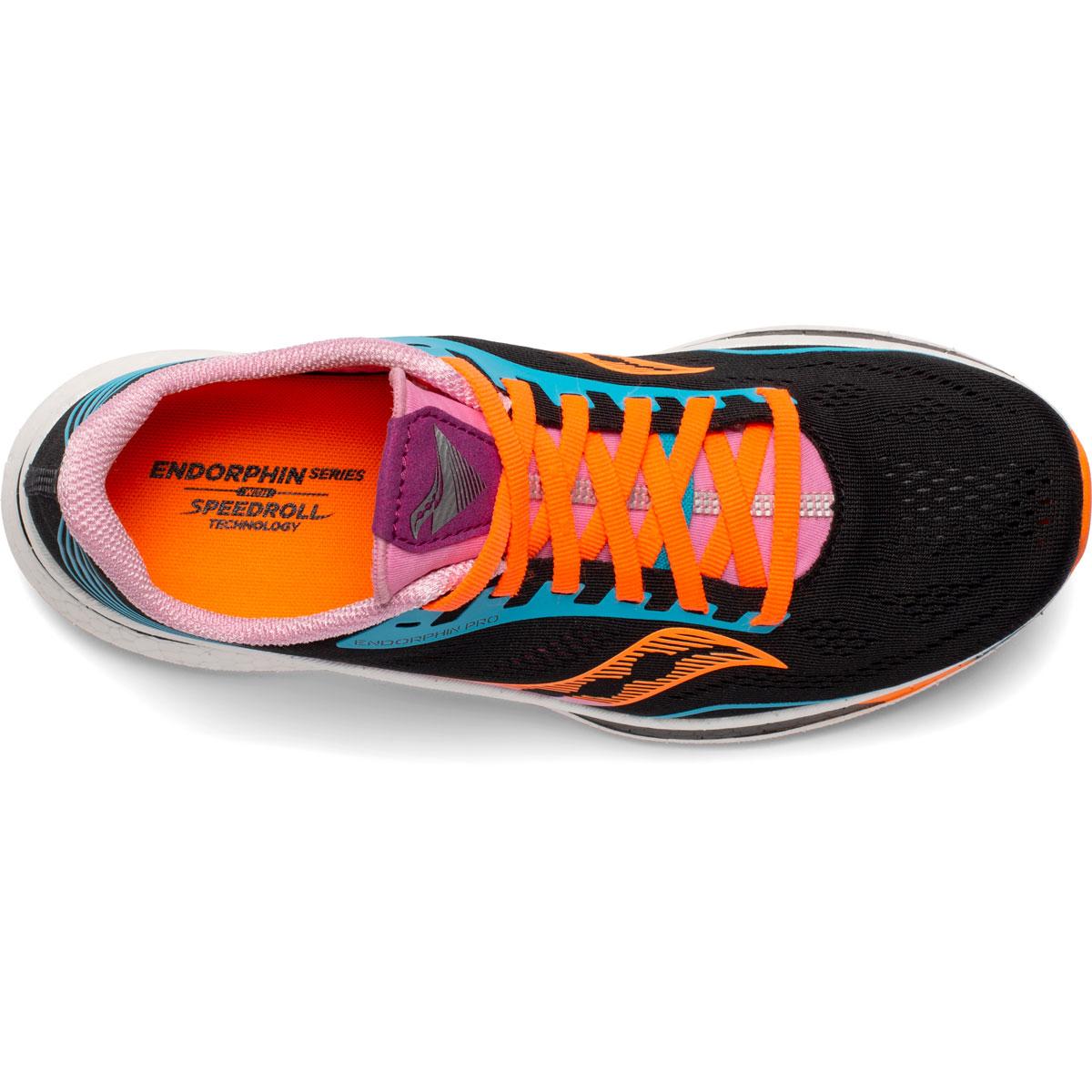 Women's Saucony Endorphin Pro Running Shoe - Color: Future/Black - Size: 5 - Width: Regular, Future/Black, large, image 3