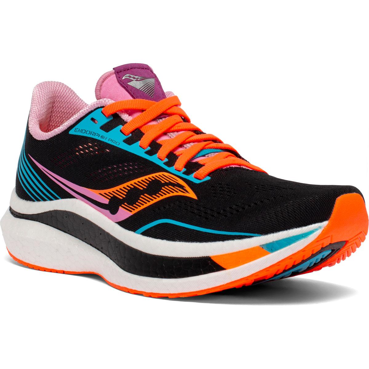 Women's Saucony Endorphin Pro Running Shoe - Color: Future/Black - Size: 5 - Width: Regular, Future/Black, large, image 5