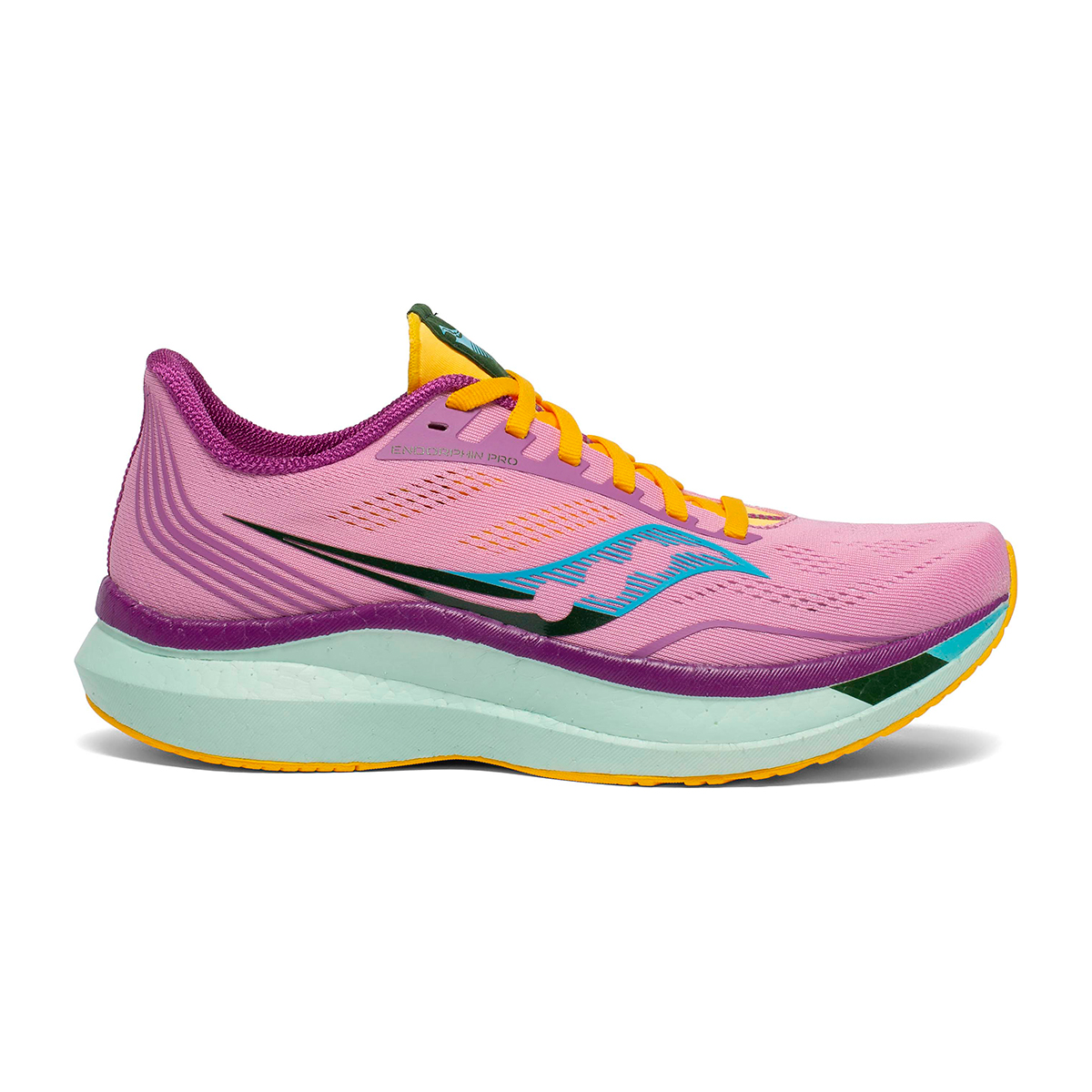 Women's Saucony Endorphin Pro Running Shoe - Color: Future/Pink - Size: 5 - Width: Regular, Future/Pink, large, image 1