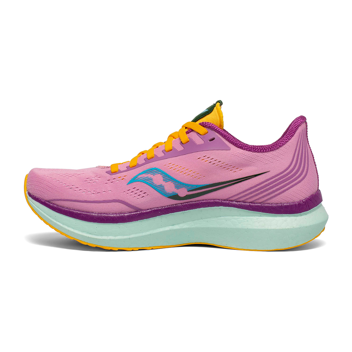 Women's Saucony Endorphin Pro Running Shoe - Color: Future/Pink - Size: 5 - Width: Regular, Future/Pink, large, image 2