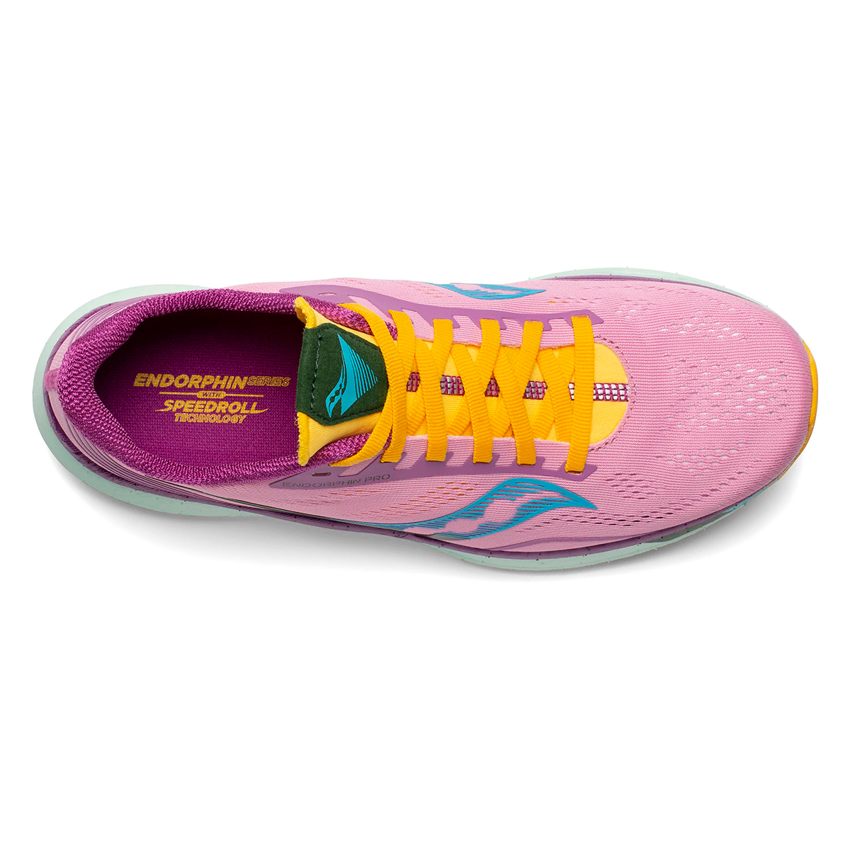 Women's Saucony Endorphin Pro Running Shoe - Color: Future/Pink - Size: 5 - Width: Regular, Future/Pink, large, image 3