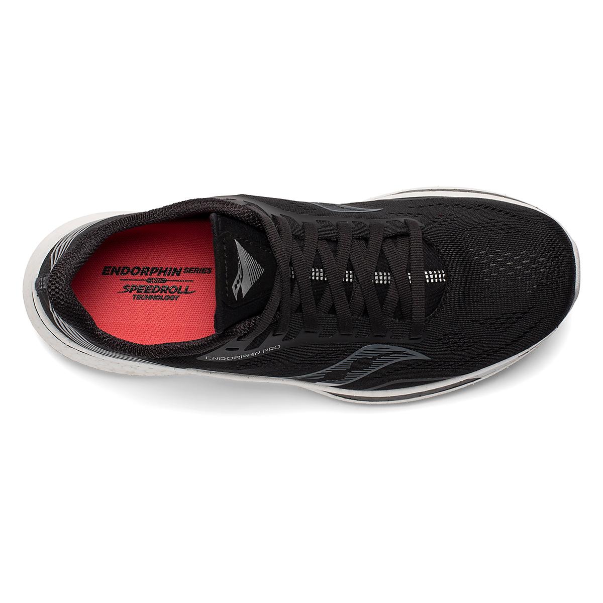 Women's Saucony Endorphin Pro Running Shoe - Color: Black/Silver - Size: 5 - Width: Regular, Black/Silver, large, image 4