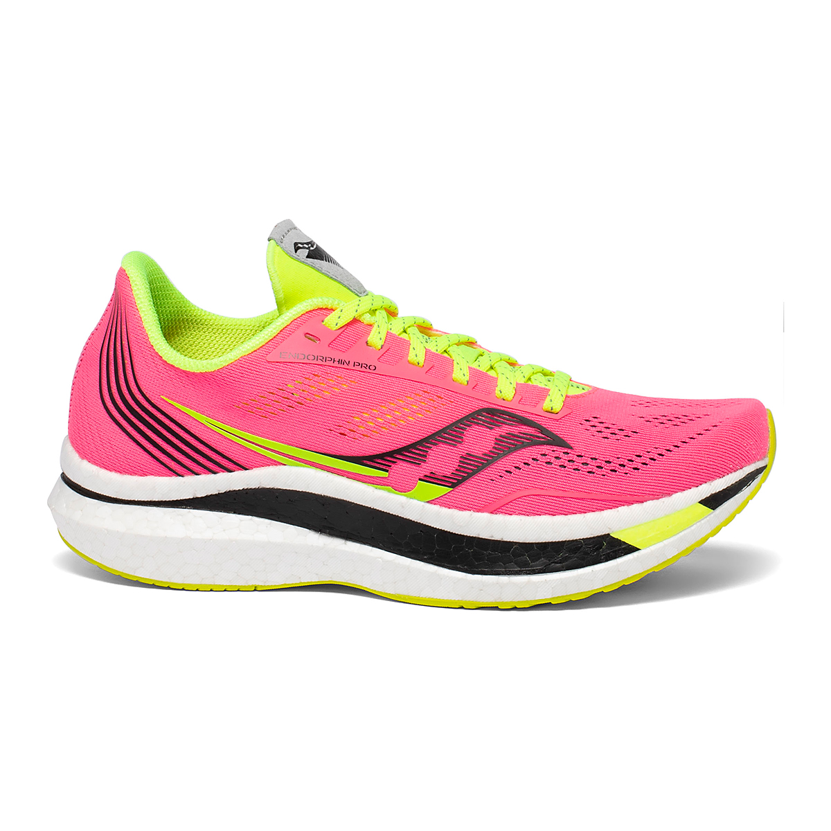 Women's Saucony VIZIPRO Speed Endorphin Pro Running Shoe - Color: Vizi Pink - Size: 5 - Width: Regular, Vizi Pink, large, image 1