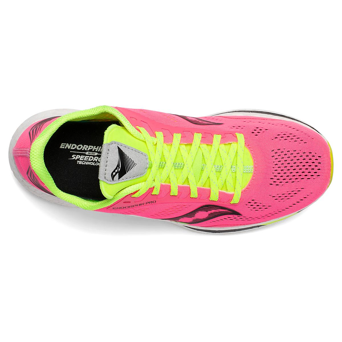 Women's Saucony VIZIPRO Speed Endorphin Pro Running Shoe - Color: Vizi Pink - Size: 5 - Width: Regular, Vizi Pink, large, image 3