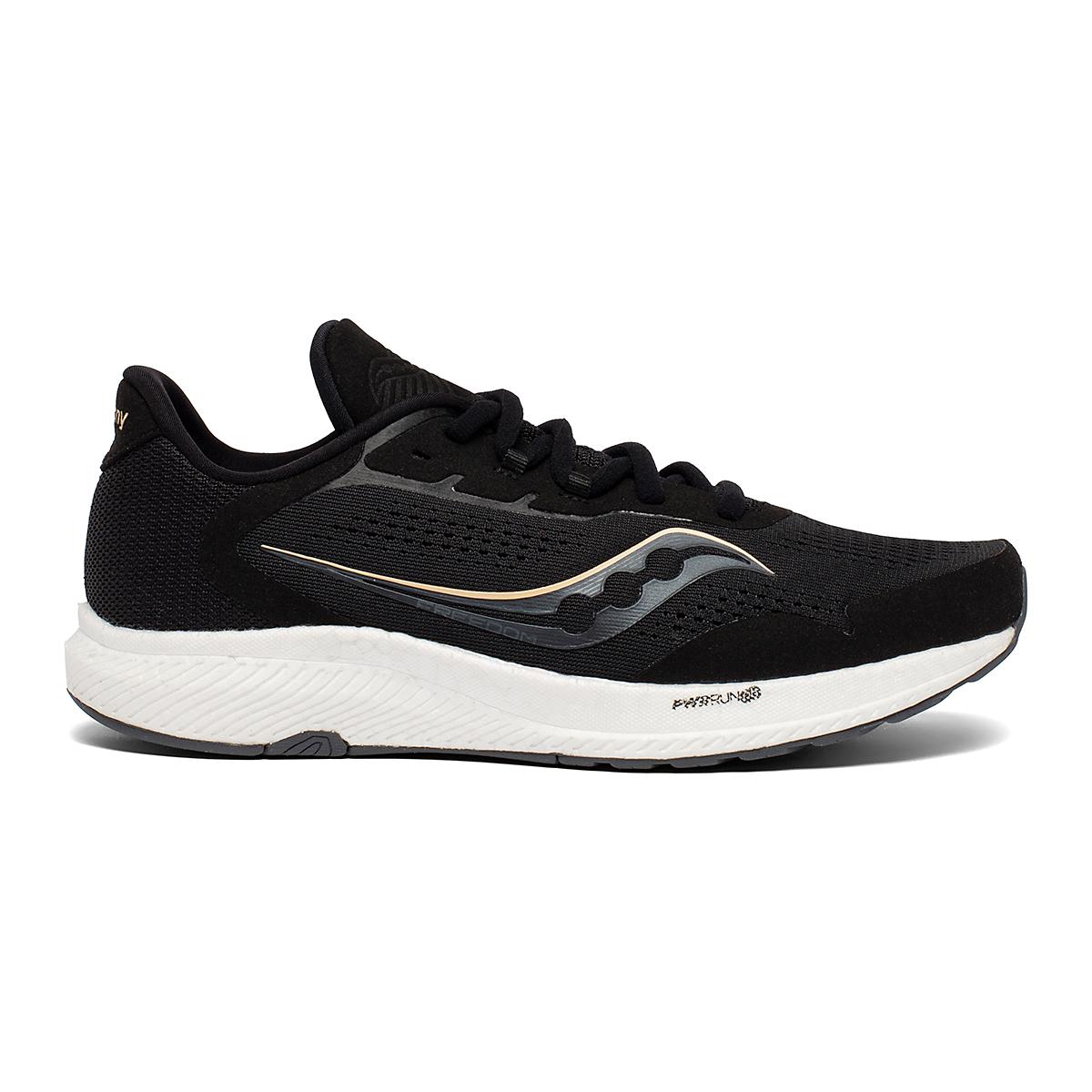 Women's Saucony Freedom 4 Running Shoe - Color: Black/Sunset - Size: 5 - Width: Regular, Black/Sunset, large, image 1
