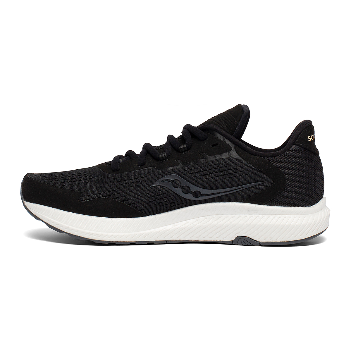 Women's Saucony Freedom 4 Running Shoe - Color: Black/Sunset - Size: 5 - Width: Regular, Black/Sunset, large, image 2