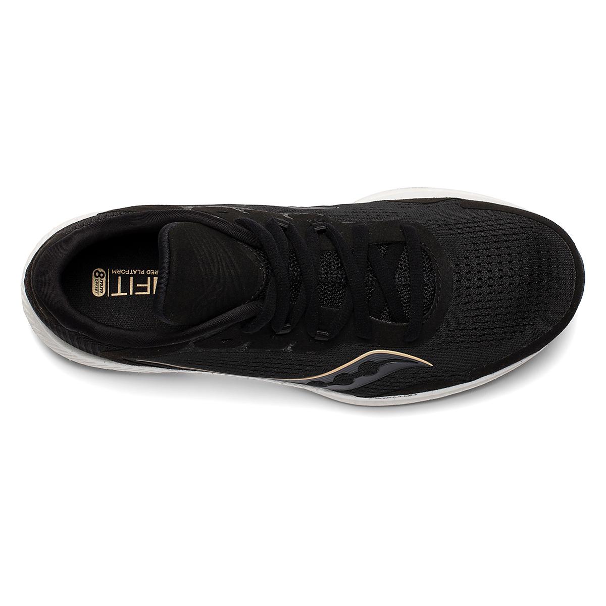 Women's Saucony Freedom 4 Running Shoe - Color: Black/Sunset - Size: 5 - Width: Regular, Black/Sunset, large, image 4