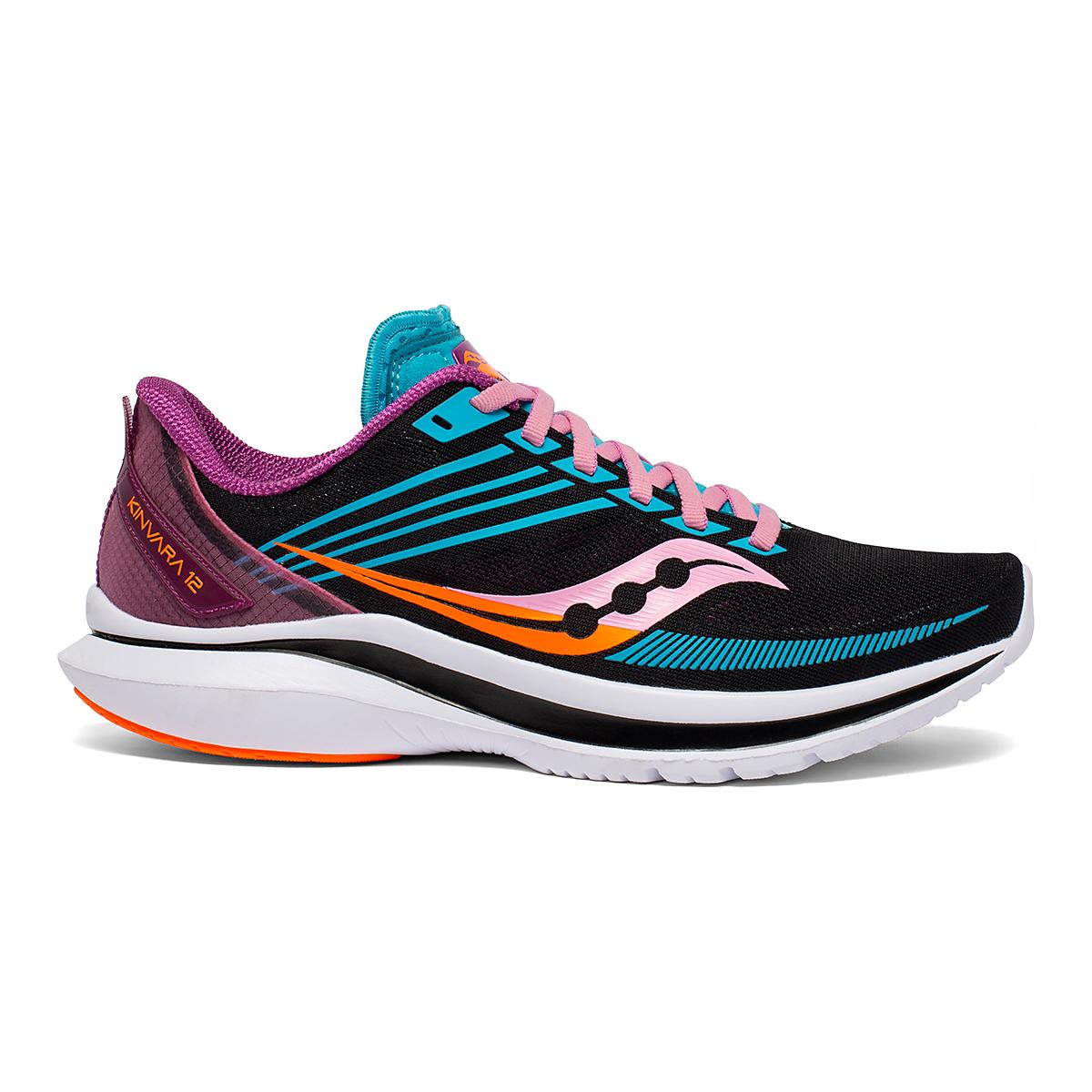 Women's Saucony Kinvara 12 Running Shoe - Color: Future/Black - Size: 5 - Width: Regular, Future/Black, large, image 1