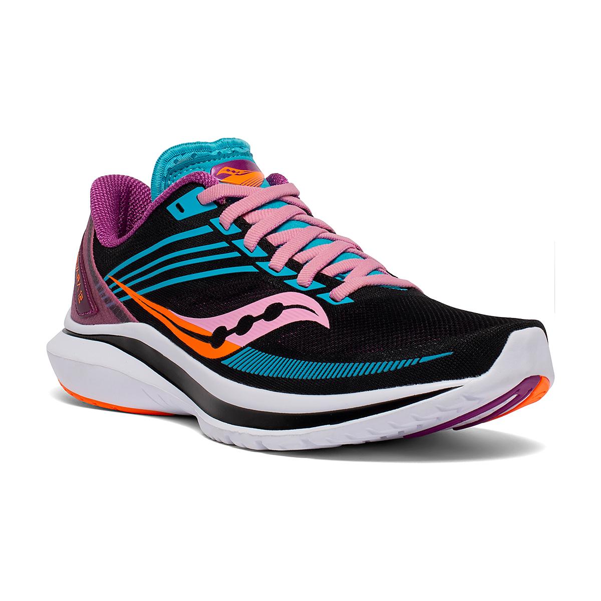 Women's Saucony Kinvara 12 Running Shoe - Color: Future/Black - Size: 5 - Width: Regular, Future/Black, large, image 2