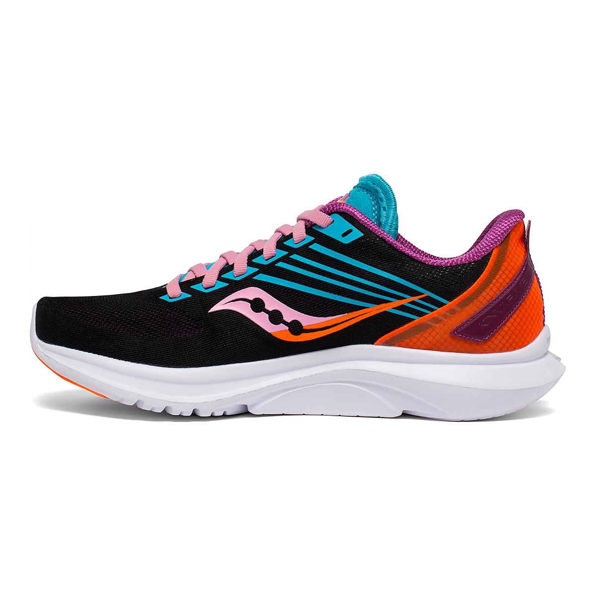 Women's Saucony Kinvara 12 Running Shoe - Color: Future/Black - Size: 5 - Width: Regular, Future/Black, large, image 3