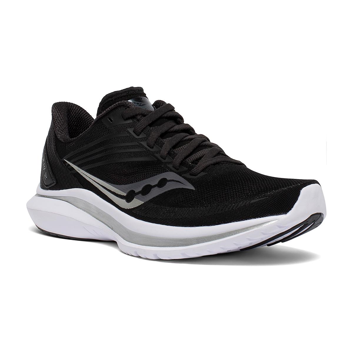 Women's Saucony Kinvara 12 Running Shoe - Color: Black/Silver - Size: 5 - Width: Regular, Black/Silver, large, image 2
