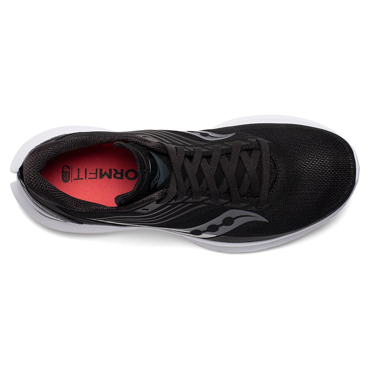 Women's Saucony Kinvara 12 Running Shoe - Color: Black/Silver - Size: 5 - Width: Regular, Black/Silver, large, image 4