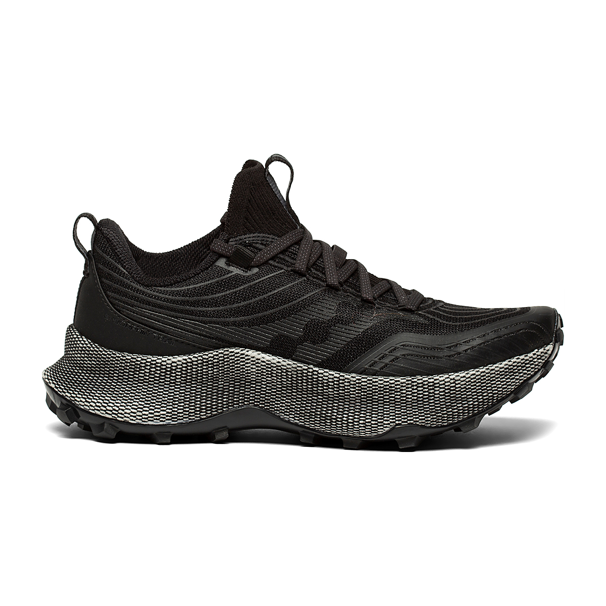 Women's Saucony Endorphin Trail Running Shoe - Color: Black/Gravel - Size: 5.5 - Width: Regular, Black/Gravel, large, image 1