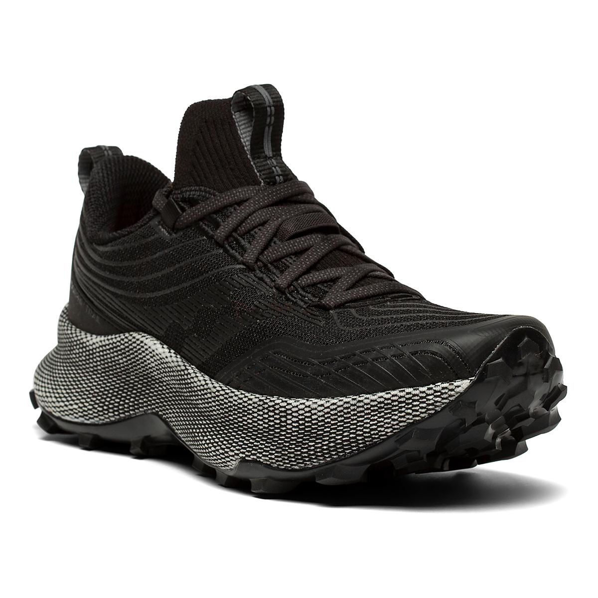 Women's Saucony Endorphin Trail Running Shoe - Color: Black/Gravel - Size: 5.5 - Width: Regular, Black/Gravel, large, image 5