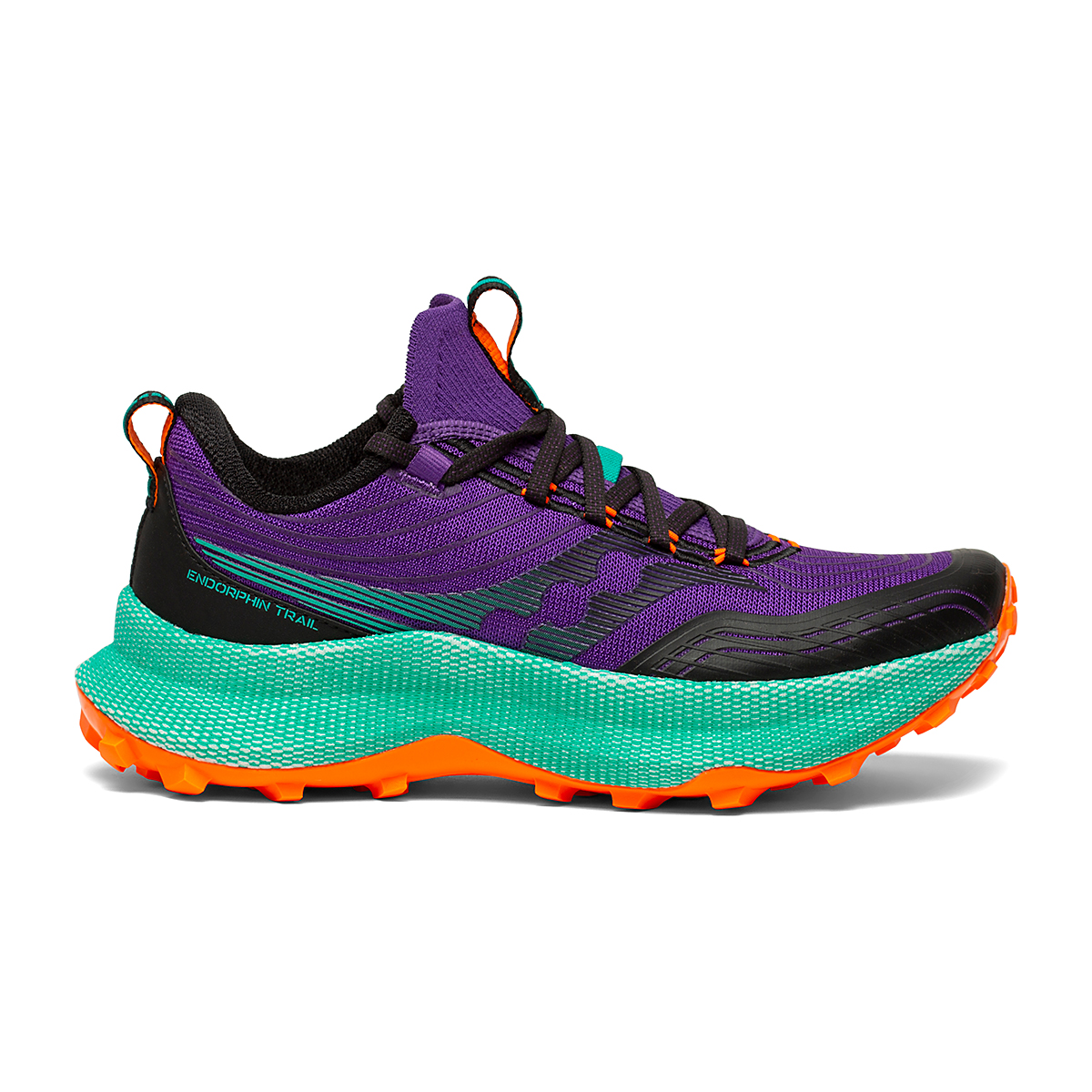 Women's Saucony Endorphin Trail Running Shoe - Color: Concord / Jade - Size: 5 - Width: Regular, Concord / Jade, large, image 1