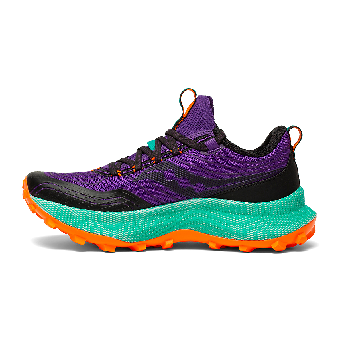 Women's Saucony Endorphin Trail Running Shoe - Color: Concord / Jade - Size: 5 - Width: Regular, Concord / Jade, large, image 2