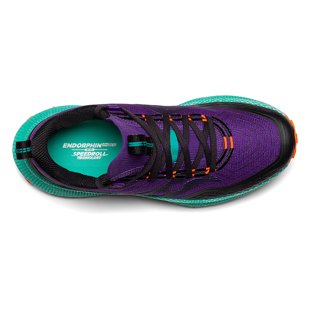 Women's Saucony Endorphin Trail Running Shoe - Color: Concord / Jade - Size: 5 - Width: Regular, Concord / Jade, large, image 3