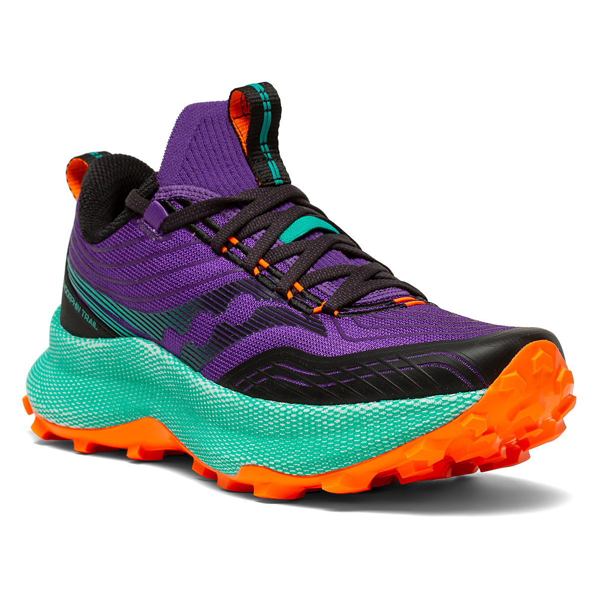 Women's Saucony Endorphin Trail Running Shoe - Color: Concord / Jade - Size: 5 - Width: Regular, Concord / Jade, large, image 5