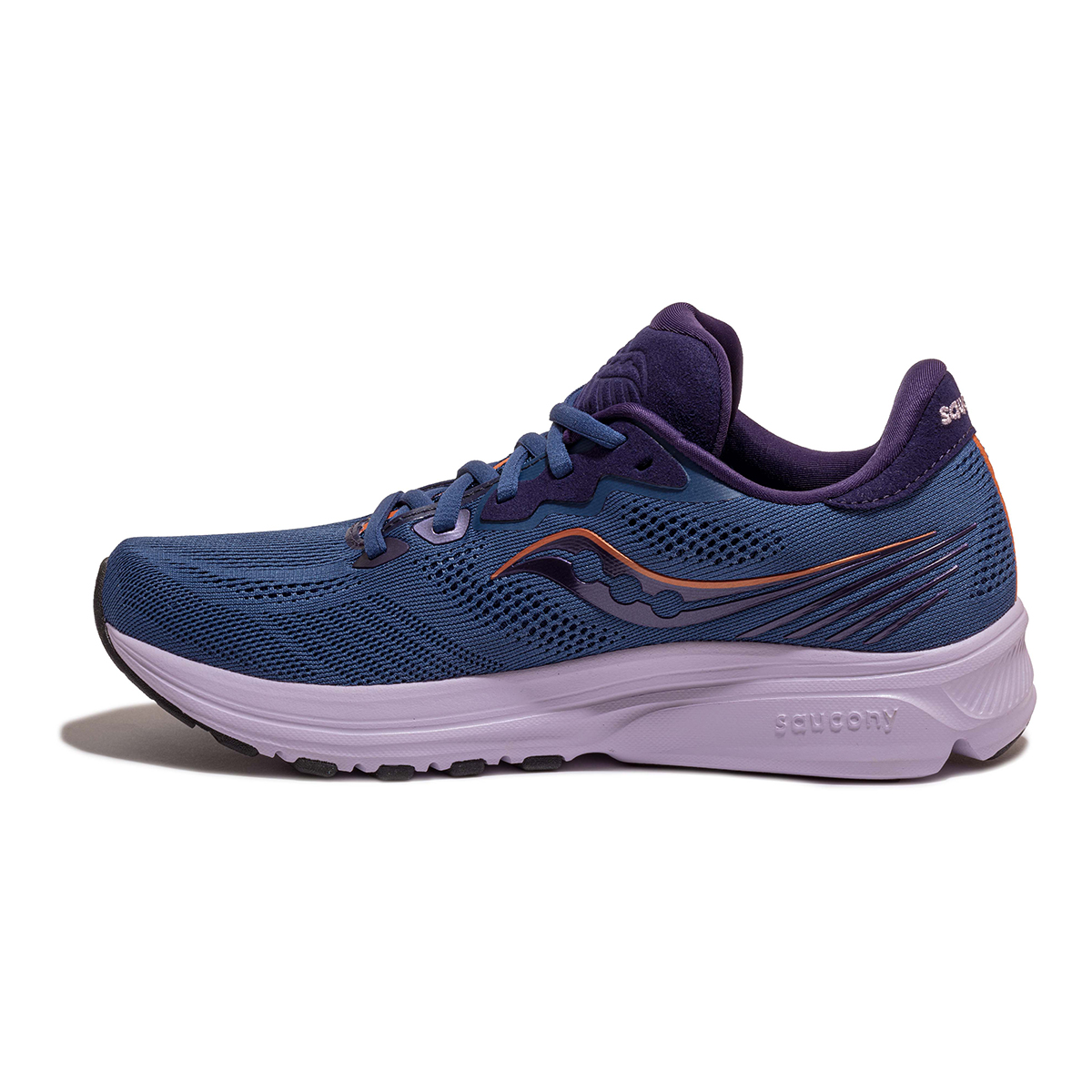 Women's Saucony Ride 14 Running Shoe - Color: Midnight/Copper - Size: 5 - Width: Regular, Midnight/Copper, large, image 2