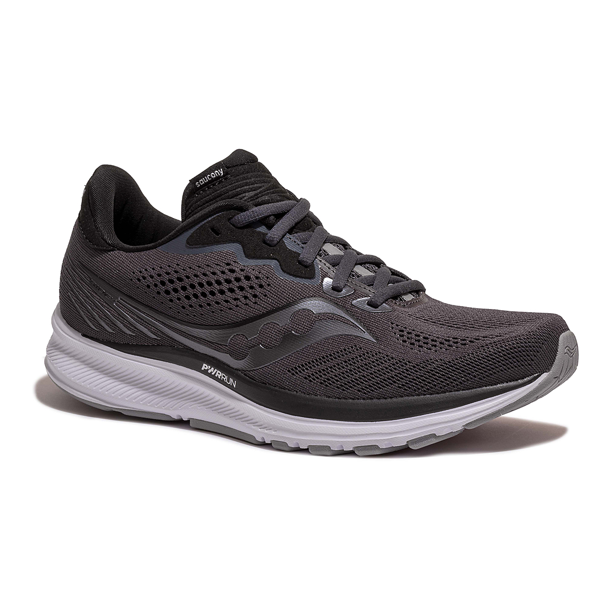 Women's Saucony Ride 14 Running Shoe - Color: Charcoal/Black - Size: 5 - Width: Wide, Charcoal/Black, large, image 5