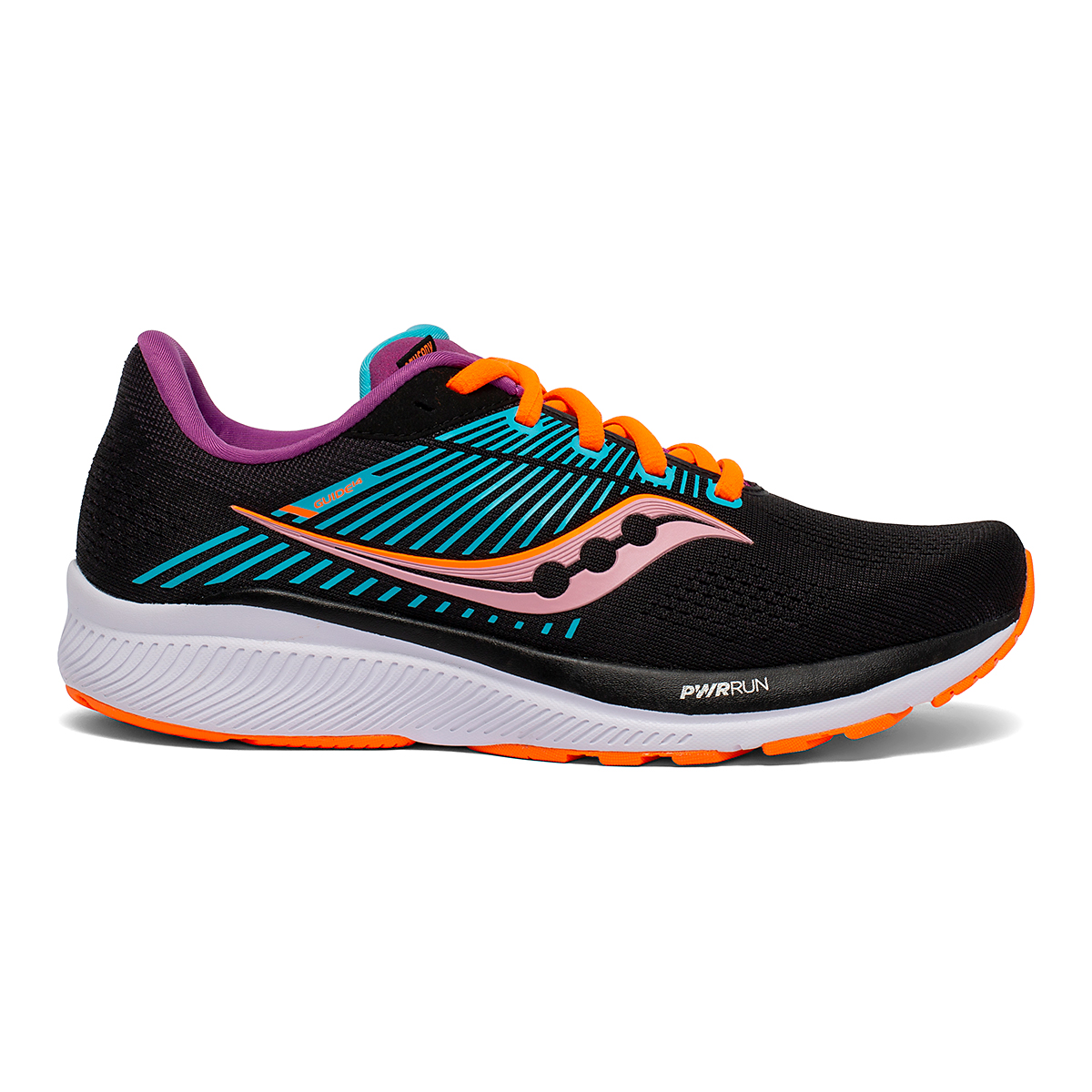 Women's Saucony Guide 14 Running Shoe - Color: Future/Black - Size: 5 - Width: Regular, Future/Black, large, image 1