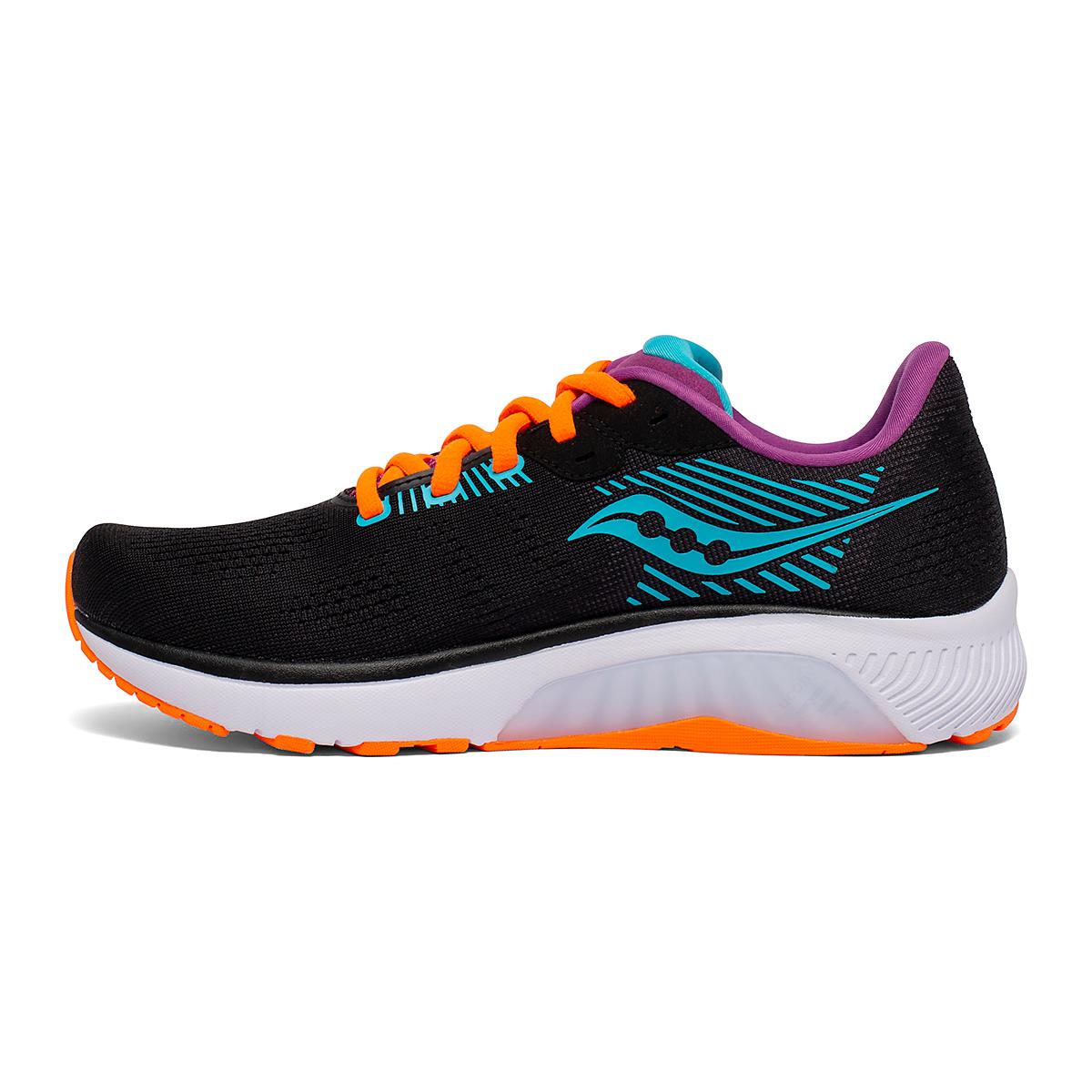 Women's Saucony Guide 14 Running Shoe - Color: Future/Black - Size: 5 - Width: Regular, Future/Black, large, image 2