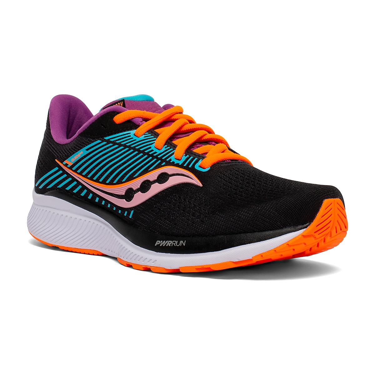 Women's Saucony Guide 14 Running Shoe - Color: Future/Black - Size: 5 - Width: Regular, Future/Black, large, image 3