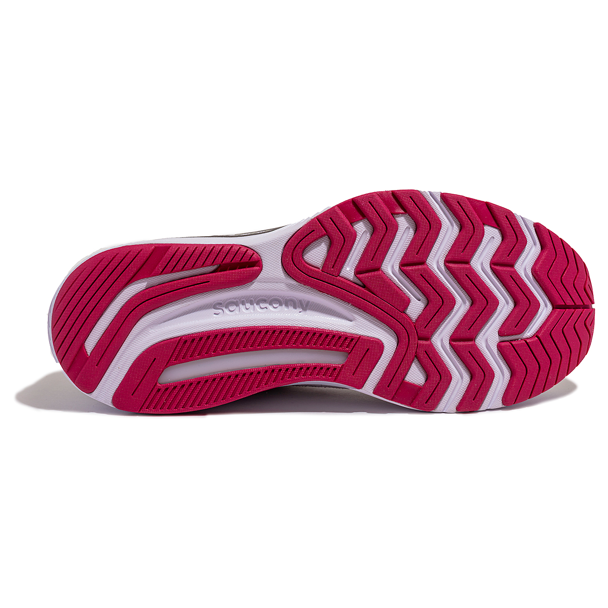 Women's Saucony Guide 14 Running Shoe - Color: Alloy/Cherry - Size: 5 - Width: Regular, Alloy/Cherry, large, image 3