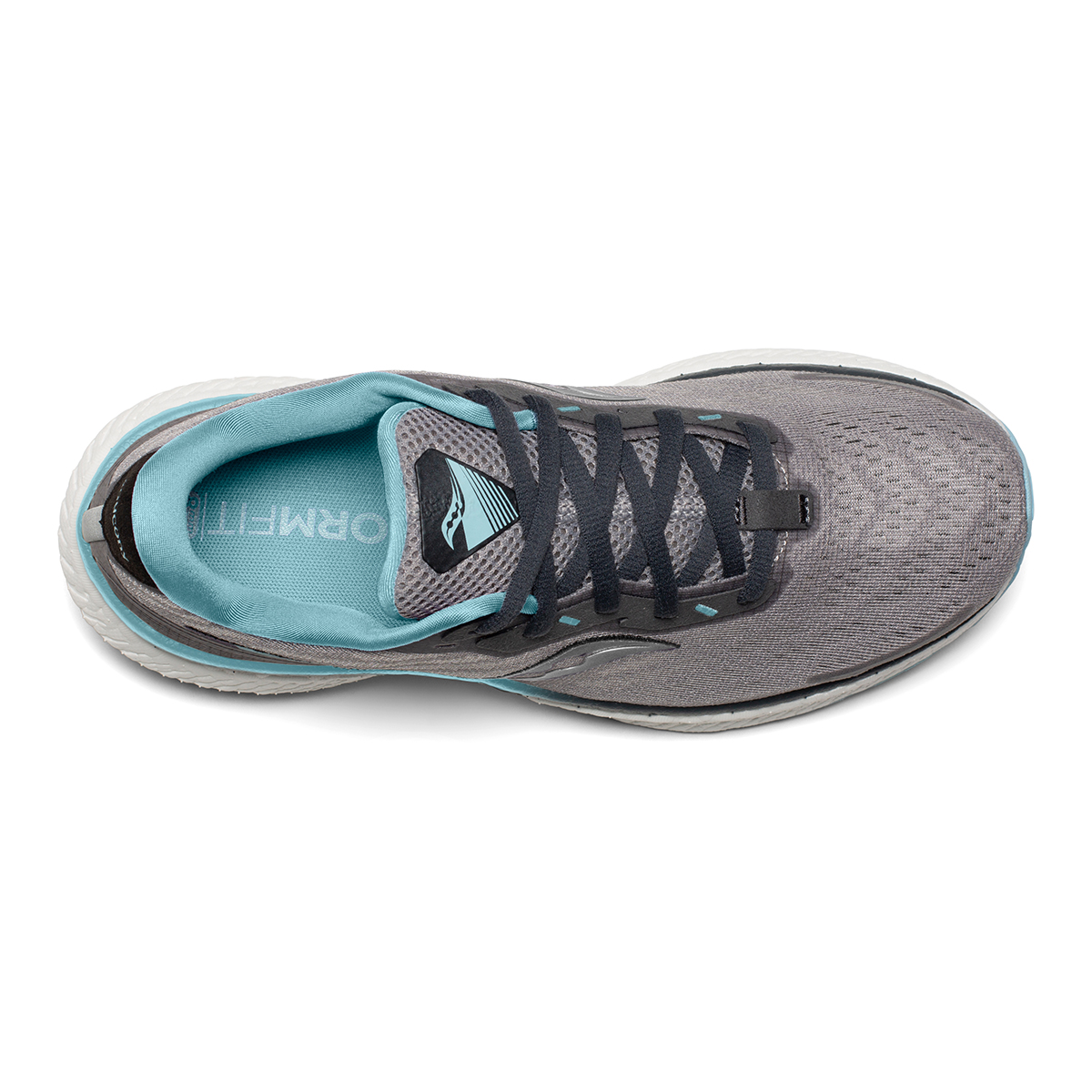 Women's Saucony Triumph 19 Running Shoe - Color: Alloy/Concord - Size: 6 - Width: Regular, Alloy/Concord, large, image 3