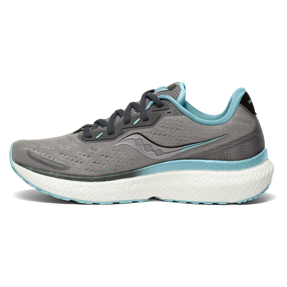 Women's Saucony Triumph 19 Running Shoe - Color: Alloy/Concord - Size: 6 - Width: Regular, Alloy/Concord, large, image 4