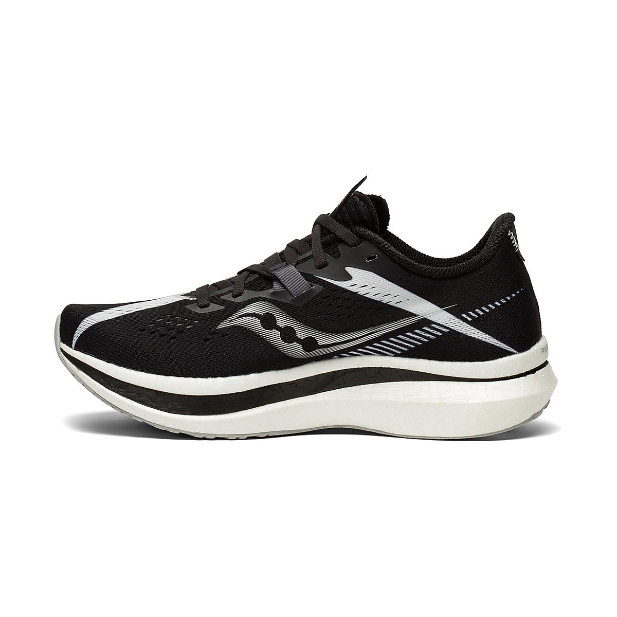 Women's Saucony Endorphin Pro 2 Running Shoe - Color: Black/White - Size: 5 - Width: Regular, Black/White, large, image 2