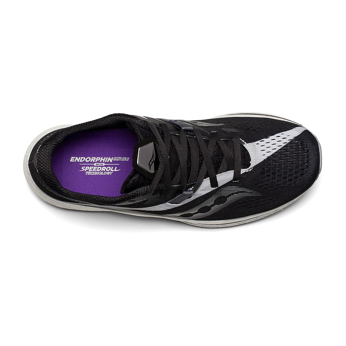 Women's Saucony Endorphin Pro 2 Running Shoe - Color: Black/White - Size: 5 - Width: Regular, Black/White, large, image 3