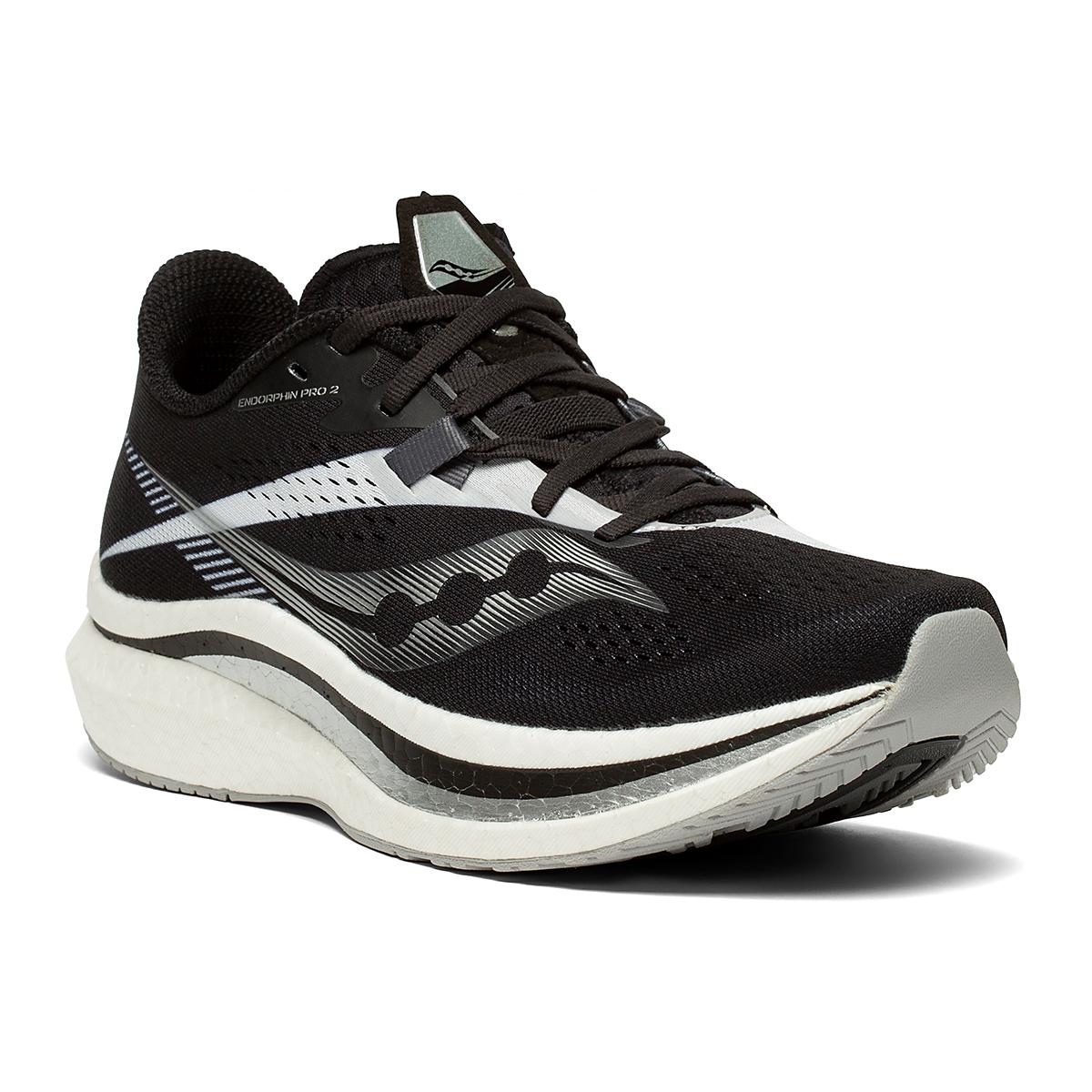 Women's Saucony Endorphin Pro 2 Running Shoe - Color: Black/White - Size: 5 - Width: Regular, Black/White, large, image 5