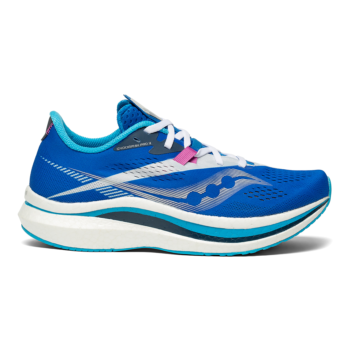 Women's Saucony Endorphin Pro 2 Running Shoe - Color: Royal/White - Size: 5 - Width: Regular, Royal/White, large, image 1