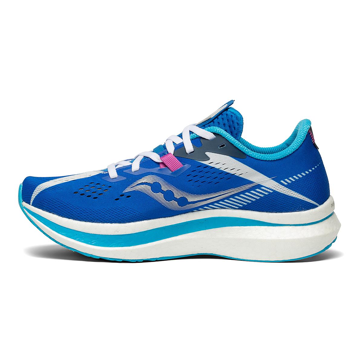 Women's Saucony Endorphin Pro 2 Running Shoe - Color: Royal/White - Size: 5 - Width: Regular, Royal/White, large, image 2